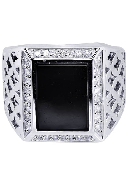 Mens Diamond Ring| 0.44 Carats| 14.57 Grams