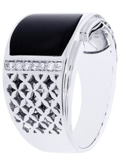 Mens Diamond Ring| 0.18 Carats| 12.91 Grams
