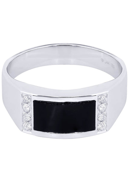 Mens Diamond Ring| 0.12 Carats| 6.37 Grams