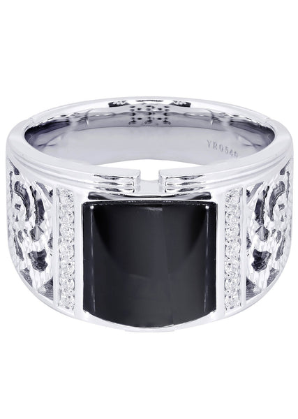 Mens Diamond Ring| 0.19 Carats| 12.33 Grams