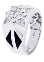Mens Diamond Ring| 0.85 Carats| 10.93 Grams