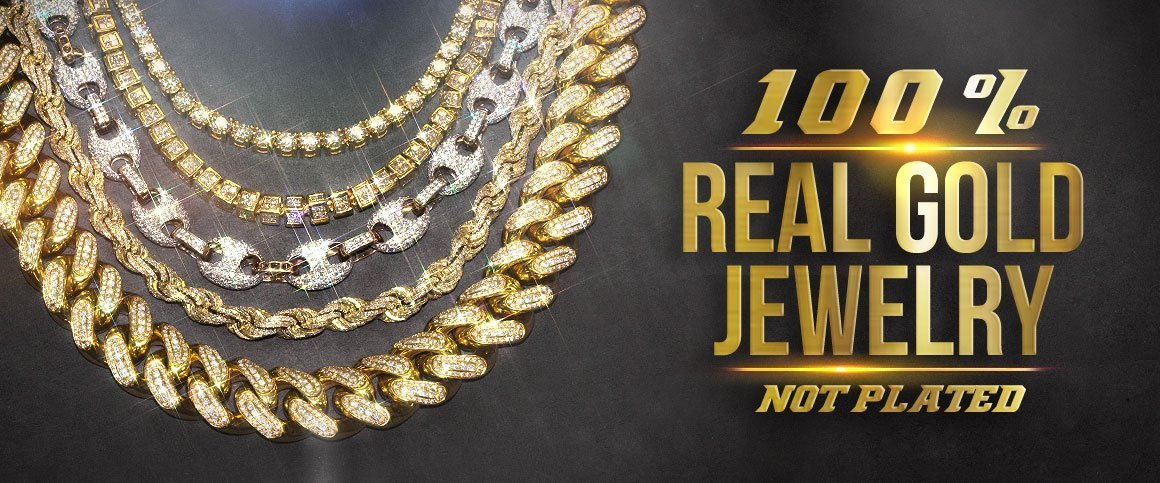 Real Diamond and Gold Jewelry