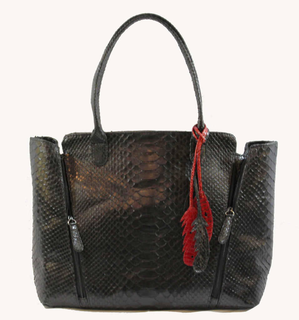 Luxurious Zipper Accented Shopper by GaBaG.Co
