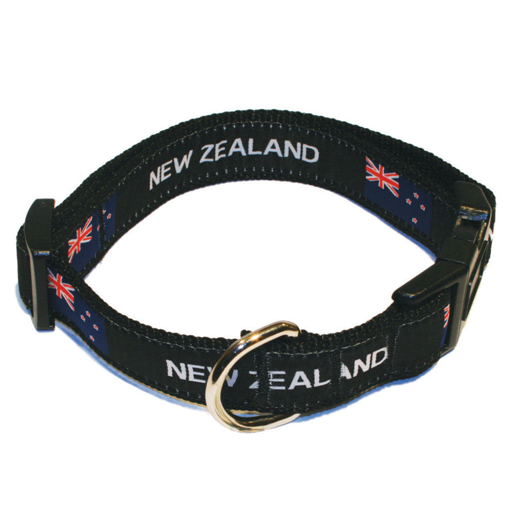 New Zealand Flag Rugby Dog Collar