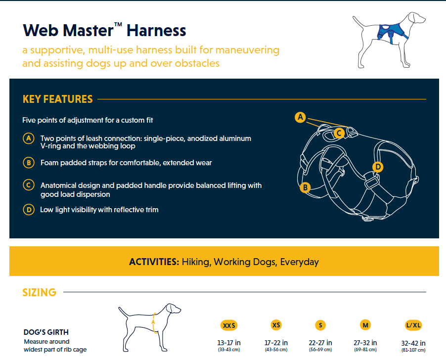 Web Master Harness - Secure, Supportive Dog Harness