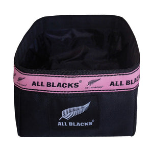 Official Licensed ALL BLACKS Dog Travel Bowl in Pink