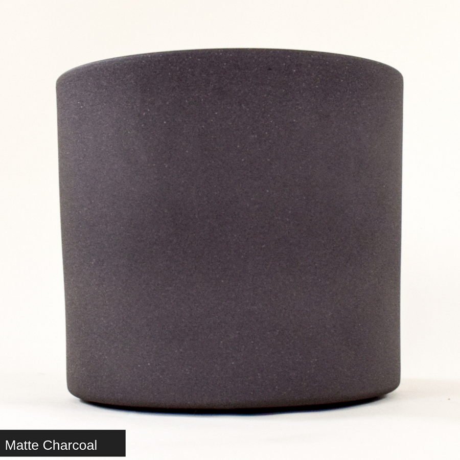 "Matte Charcoal Cylinder Pot 10"" - ceramic pots - By plantwares™"
