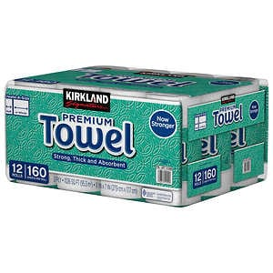 Kirkland Signature premium Towels, 160 Sheets