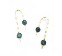Karan Earring- Green Tiger's eye
