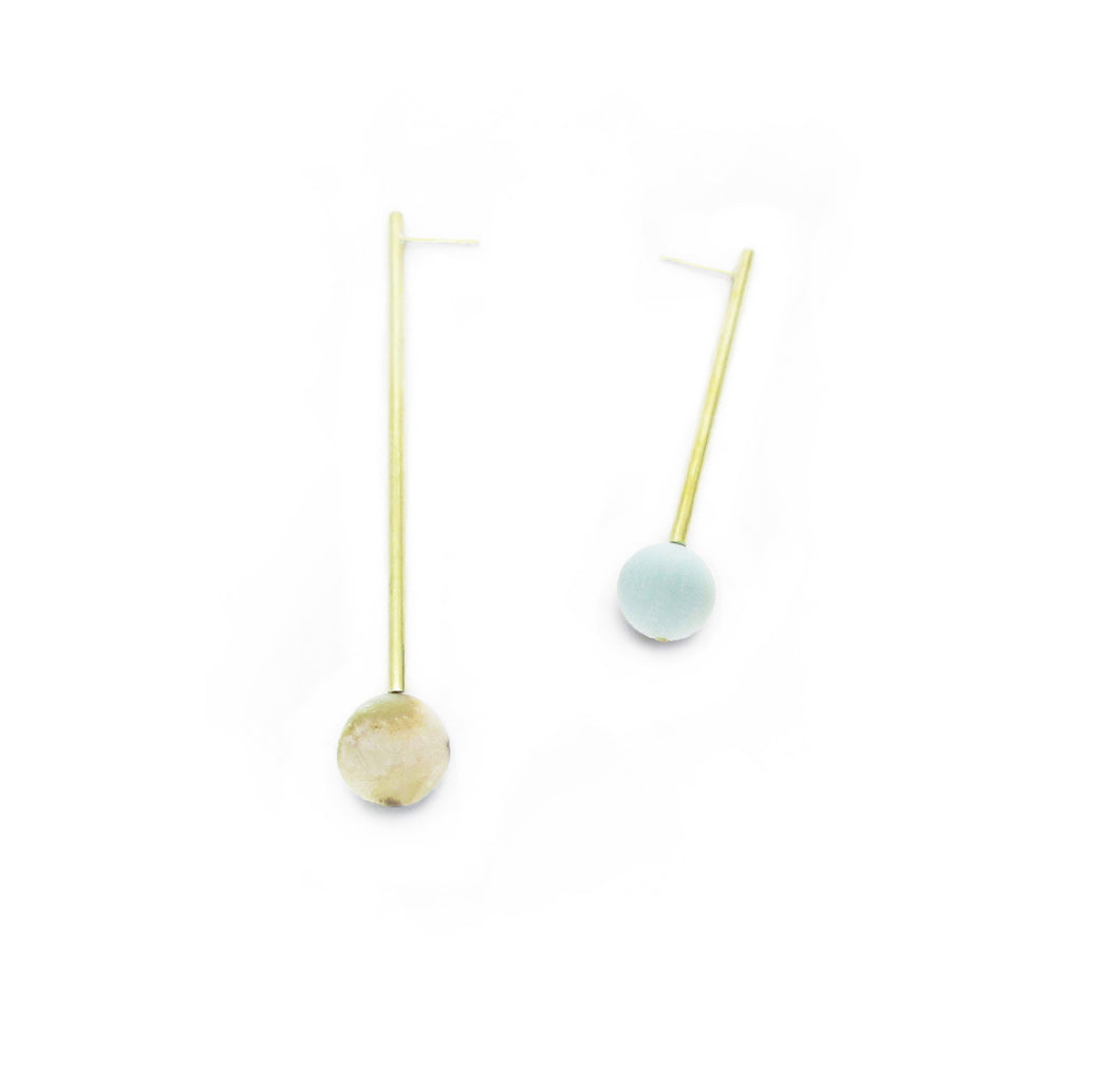 Pendulum Earrings - Amazonite