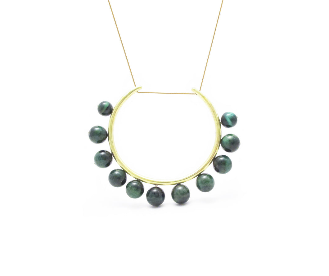 Tanok Necklace- Green Tigers Eye