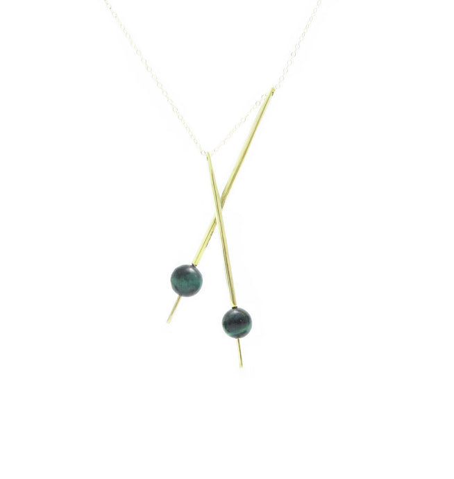Axis Pendulum Necklace- Tigers Eye