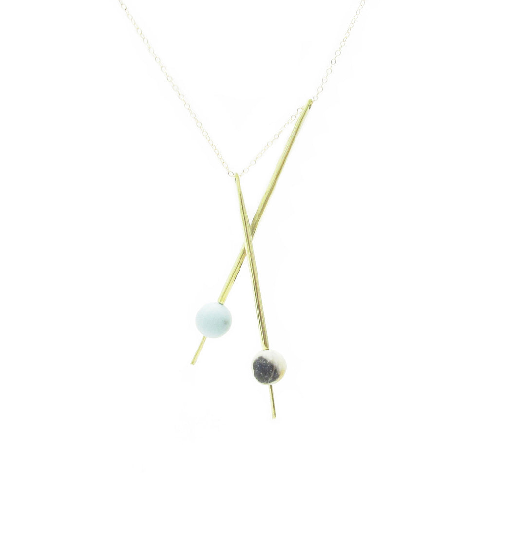 Axis Pendulum Necklace- Amazonite