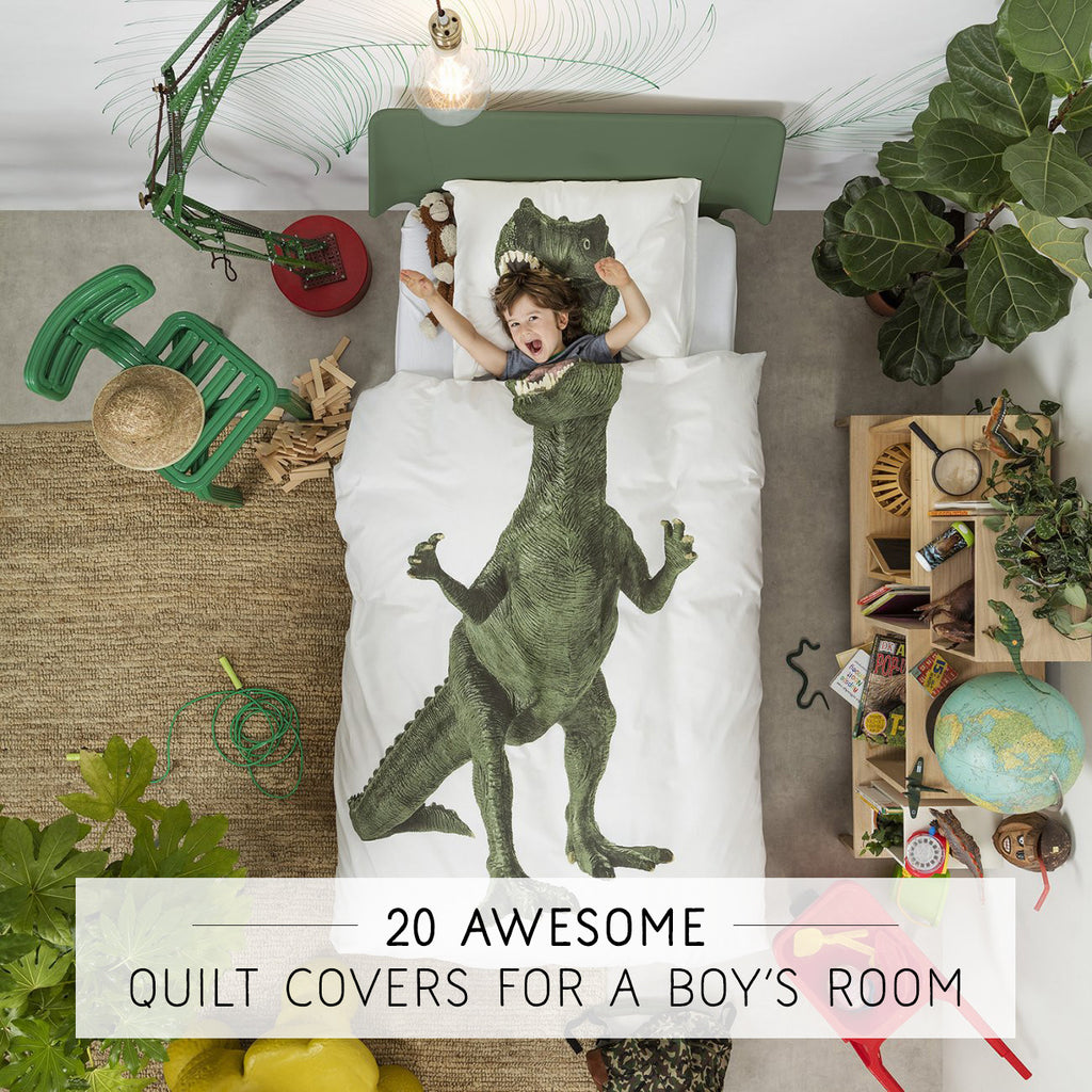 20 Awesome Quilt Covers For A Boy's Room (Single Size Duvet Covers)