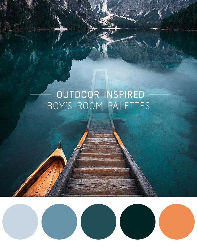 5 Outdoor Inspired Boy's Room Palettes
