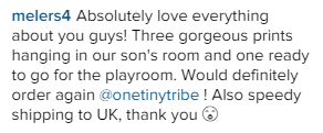 One Tiny Tribe testimonial