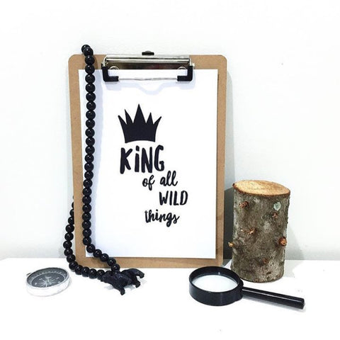One Tiny Tribe - King of all wild things printable