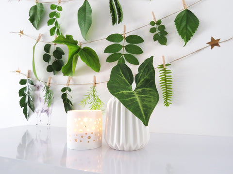 diy nature garland by One Tiny Tribe