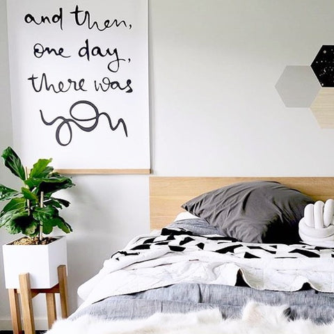 """And then, one day, there was you"" giant Love Poster - A0 size (84.1cm x 118.9cm (33.1"" x 46.8"") - great for nursery decor and home decor. Buy at www.onetinytribe.com"