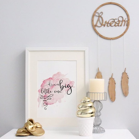 "One Tiny Tribe ""Dream big (pink)"" printable"