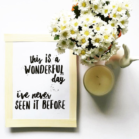 """Wonderful day"" printable by One Tiny Tribe"