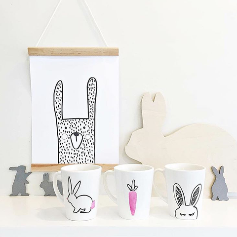 """Oliver the bunny"" printable by One Tiny Tribe"