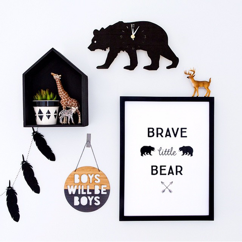 """Brave little bear"" print by One Tiny Tribe - great for a boy's room or nursery - available at www.onetinytribe.com"