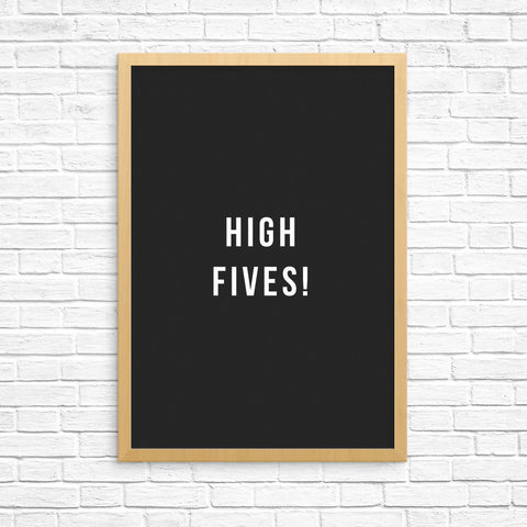 """High fives!"" print by One Tiny Tribe - great for a boy's room or a playroom - available at www.onetinytribe.com"