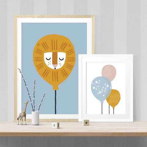 """Lion sleeps tonight"" print by One Tiny Tribe - great for a boy's room or nursery - available at www.onetinytribe.com"