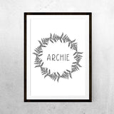 Monochrome name wreath - Printable - One Tiny Tribe  - 4