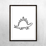 Baby Stegosaurus - Printable - One Tiny Tribe  - 1