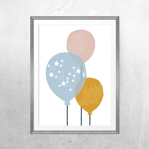 Balloons - Print - One Tiny Tribe  - 1