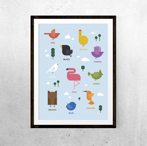 Bird Colours - Printable - One Tiny Tribe  - 1