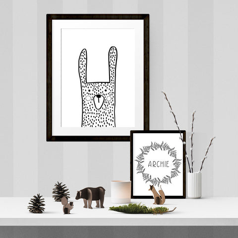 Oliver the bunny - Printable - One Tiny Tribe  - 1