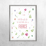 Fierce - Print - One Tiny Tribe  - 1