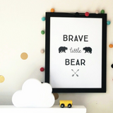 Brave little bear - Print - One Tiny Tribe  - 3