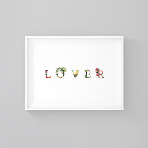 Lover - Printable - One Tiny Tribe  - 1