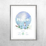 Personalised Baby Name - Woodland Whispers Theme - Print - One Tiny Tribe  - 4