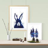 Messy hare don't care - Print - One Tiny Tribe  - 2