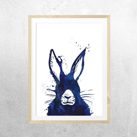 Messy hare don't care (A4 printing fault) - Print - One Tiny Tribe  - 1