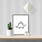 Baby Stegosaurus - Printable - One Tiny Tribe  - 2