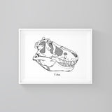 T-Rex - Print - One Tiny Tribe  - 1