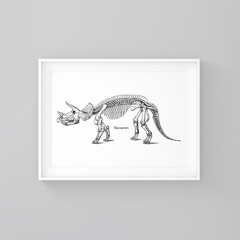 Triceratops - Print - One Tiny Tribe  - 1