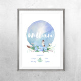 Personalised Baby Name - Woodland Whispers Theme - Print - One Tiny Tribe  - 3