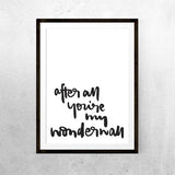 Wonderwall - Print - One Tiny Tribe  - 1