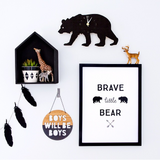 Brave little bear - Print - One Tiny Tribe  - 1