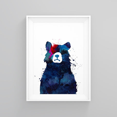 Bowie Bear (Limited Edition) - Print - One Tiny Tribe