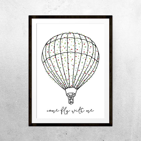Come fly with me - Printable - One Tiny Tribe  - 1