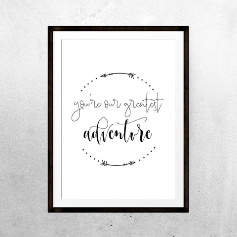 Greatest adventure - Print - One Tiny Tribe  - 1