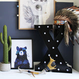 Messy bear don't care - Print - One Tiny Tribe  - 2